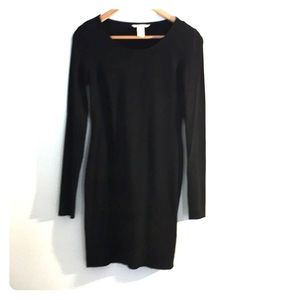H&M Black Long Sleeve Basic Dress. Size S
